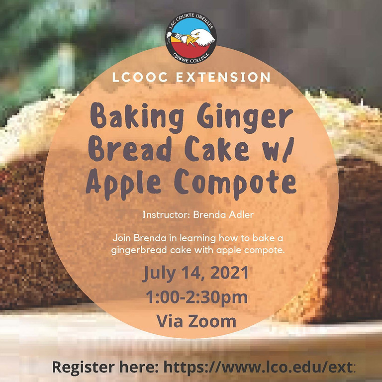 Baking a Ginger Bread Cake w/Apple Compote