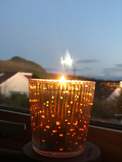Candle at the window