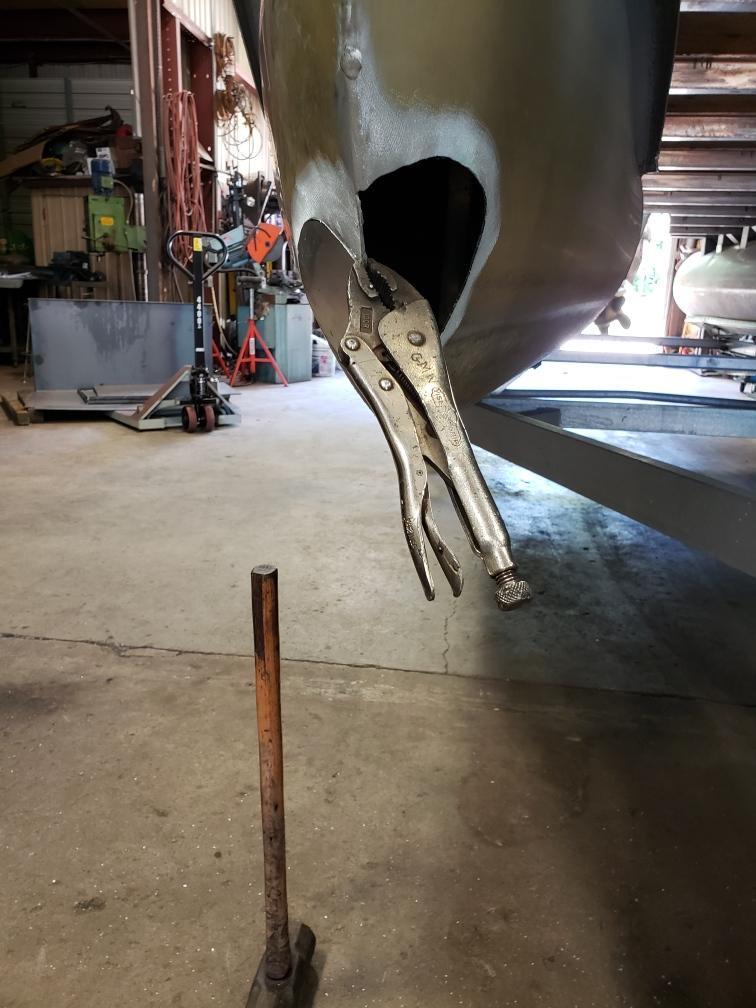Pontoon Boat Repair - Before