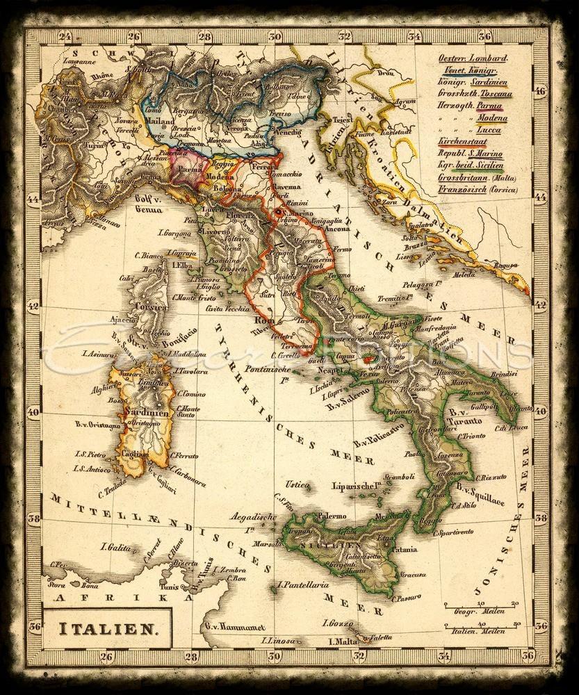 antique-italian-maps-map-2605011-adolf-stieler-and-j-l-brudin-1852-italien-maxim