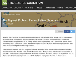 TGC - The Biggest Problem Facing Italian Churches