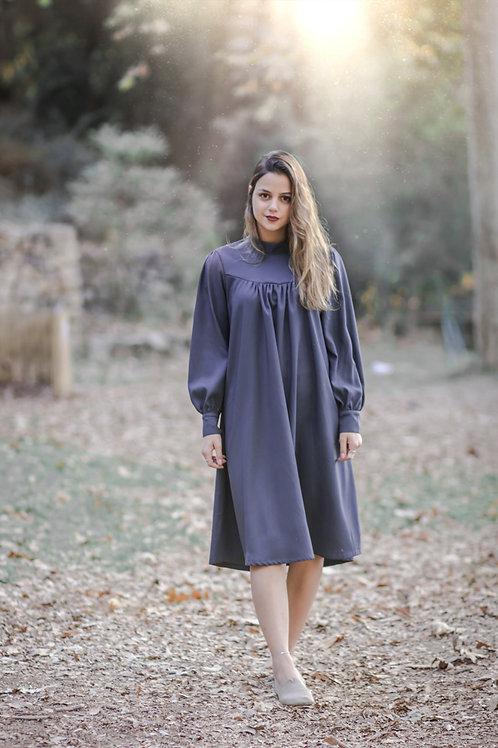 שמלת חורף | כחול-אפור