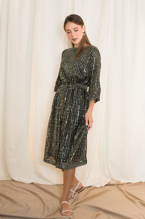 שמלת אלומה | שחורה