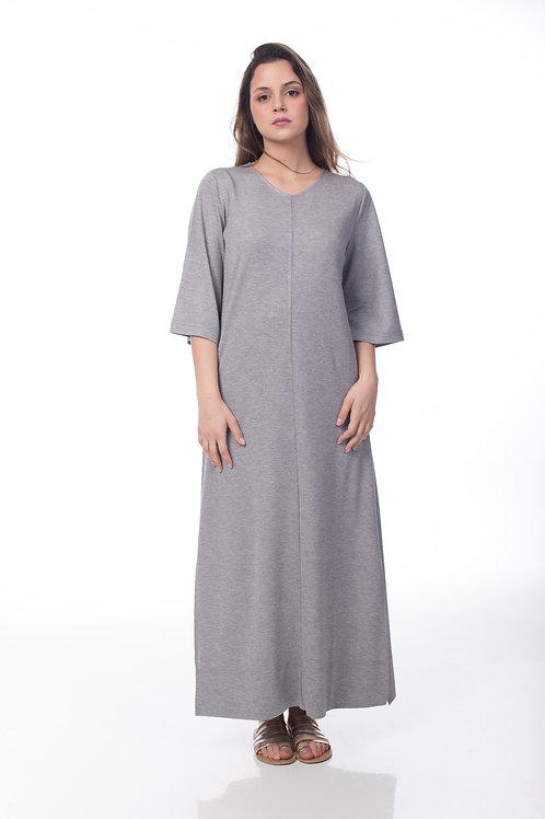 שמלת בייסיק אפורה