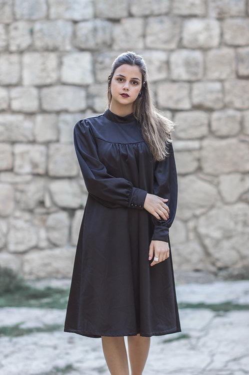 שמלת חורף | שחורה