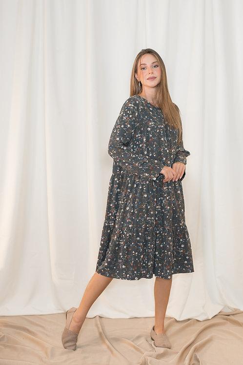 שמלת עופרי | אפורה