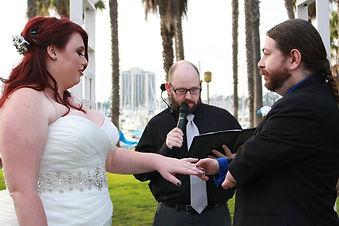 Dan Bublitz Jr officiating a wedding.