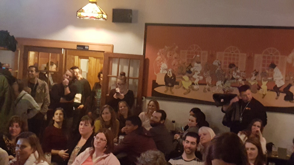 Live audience at a comedy show