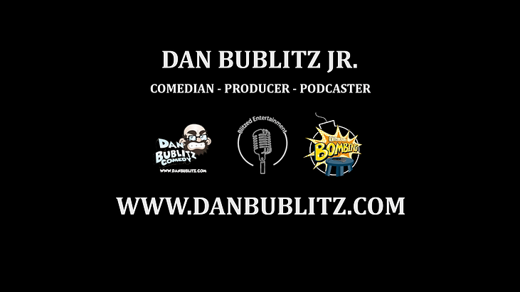 Comedian Dan Bublitz Jr website banner