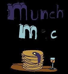 Munch Mic Cartoon Logo