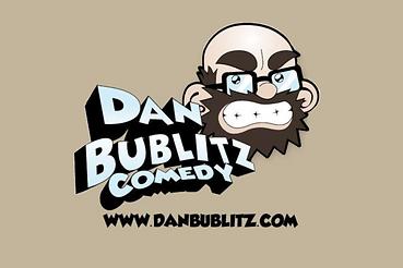 """Dan Bublitz Jr Comedy Logo 3""""x4"""" Vinyl S"""