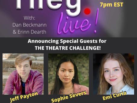 rileyLIVE! Episode 102: Theatre! (ft. Sophie Severs, Jeffrey Payton & Emi Curia)