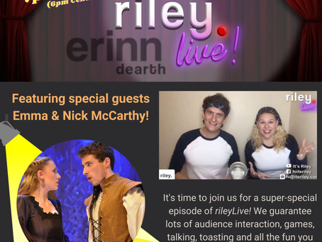 JOIN US! Next rileyLive: Friday, April 23rd!