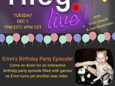 December 1st- join us for a riley birthday!
