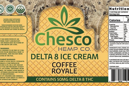 Delta 8 ice cream coffee royale/in store,curbside, local delivery