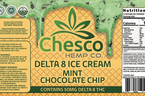 Delta 8 ice cream mint choc chip/in store, curbside, local delivery