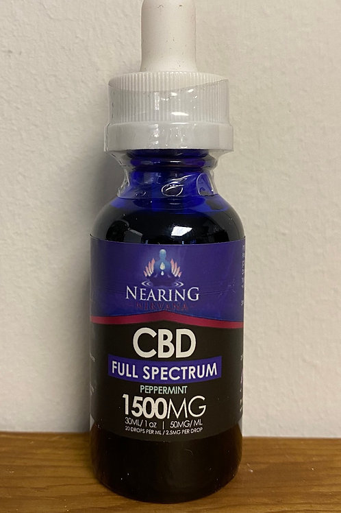 Nearing Nirvana 1oz 1500 Peppermint Full Spectrum Tincture
