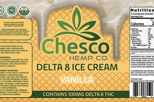 Delta 8 ice cream vanilla/in store,curbside, local delivery only