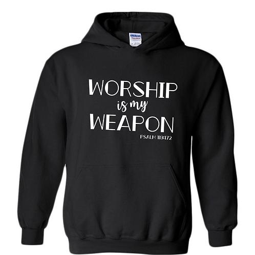 Worship is My Weapon Hoodie