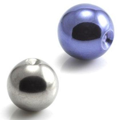25 x Ti Plain Clip in Ball