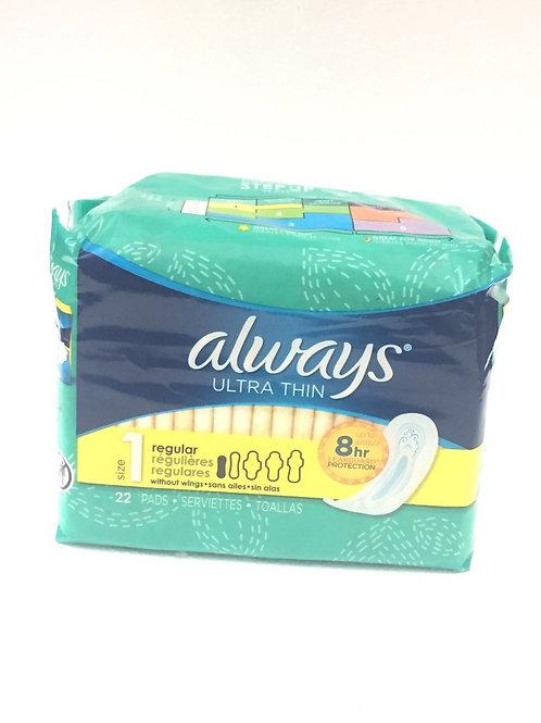 Always ultra thin(护垫) 22片