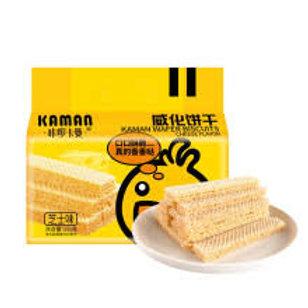 咔啰咔曼咸蛋/芝士味威化饼干215g