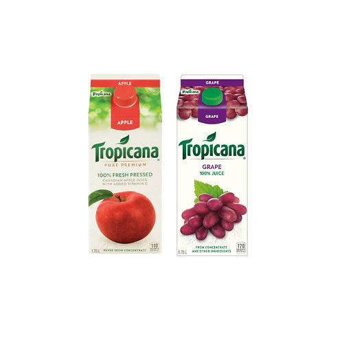Tropicana 苹果汁/葡萄汁1.75L