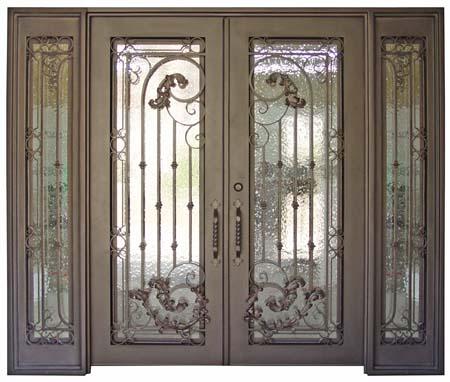 Iron Door with Decorative Ironwork