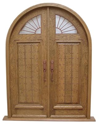 Custom Door with Iron Accents