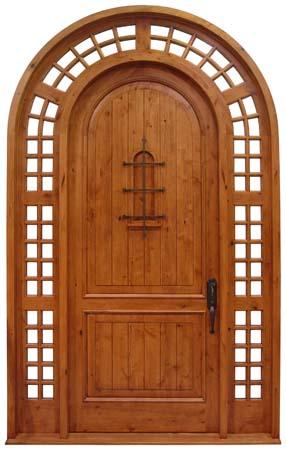 Entry Door with Faux Speakeasy
