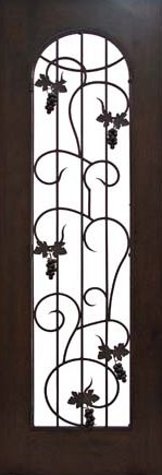 Wine Room door with Grapes & Leaves