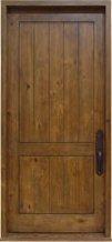 2 Panel Plank Door