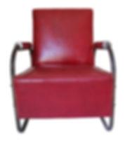 barbershop red vinyl chair