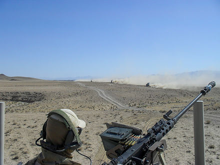 Lubricating the M-2, .50 lubrication, lubricating in desert, dusty environment lubrication, machine gun lubrication
