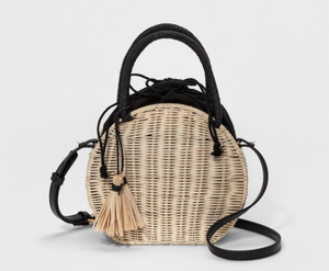 Straw bag from Target