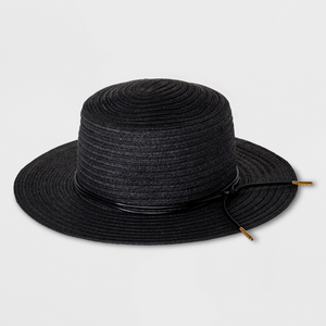 Black Straw hat from Target