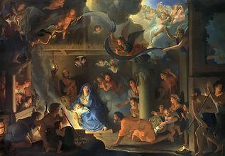 Christmas. Le_Brun,_Charles_-_Adoration_