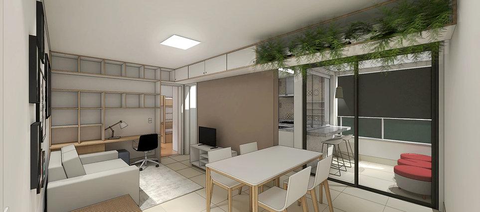 Apartamento 14BIS por MEIUS ARQUITETURA
