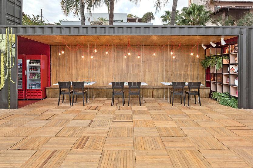 restaurante container da Casa Construir de 2016