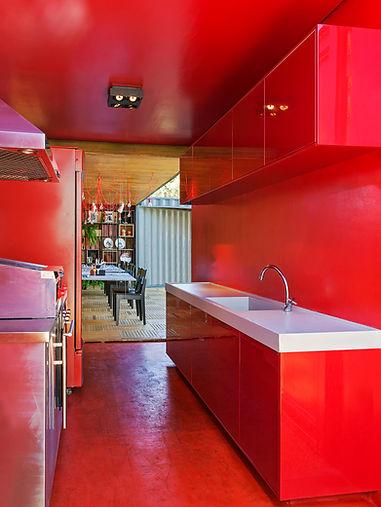 cozinha do restaurante container da Casa Construir de 2016