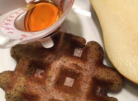 Lemon Poppy Seed Waffles, Gluten Free