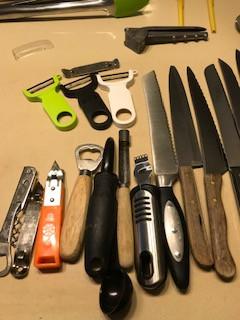 Khun Rikon Swiss peelers, inexpensive knives, fun tools