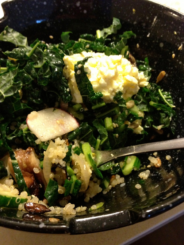 Kale power lunch bowl