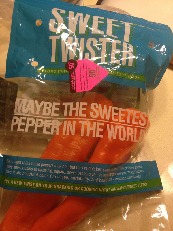 Sweet Twister Peppers