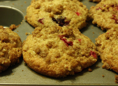Sunshine Fresh Cranberry White Chocolate Chunk Muffins