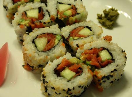 """""""Sushi Night!"""" in the Afternoon?!…Uramaki Recipe too!"""
