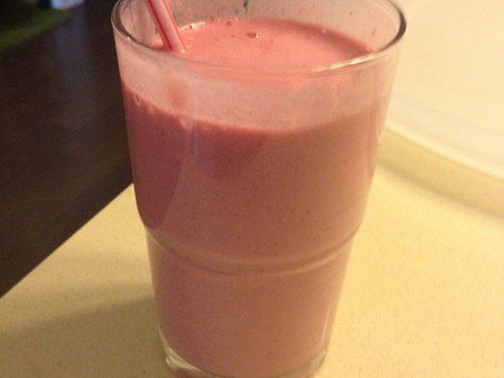 Mid Day Snack…Raspberry, Pear, and Almond Smoothie