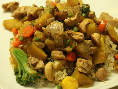 Magic Trick…Presto!….Mango Cashew Chicken…Tadah…with Veggies!