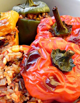 Stuffed Peppers. Exotic spices. Comfort food at its best!