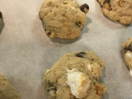S'mores with Nuts Cookies